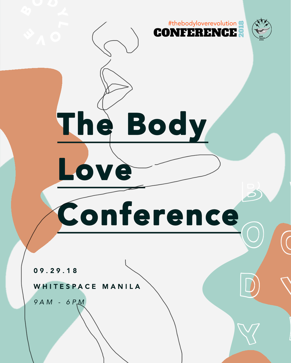 Join us on September 29, 2018 at Whitespace in Manila, Philippines, as we dedicate a day to involved and inspiring discussions about how to better respect, relate, and repair our bodies and body image.