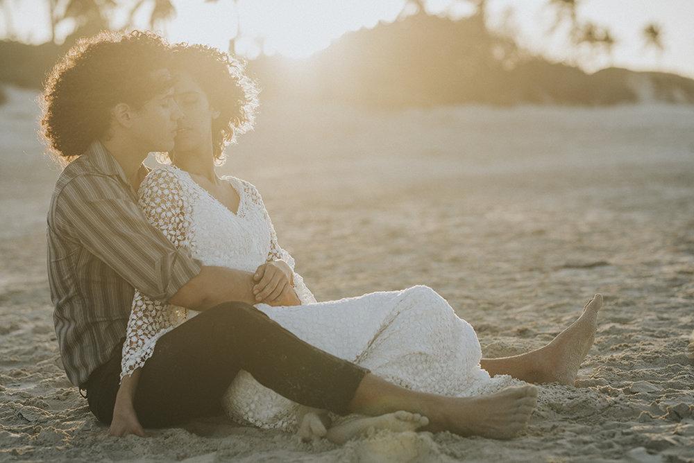 Älskar den här bilden på Claudia och Nelson i solnedgången