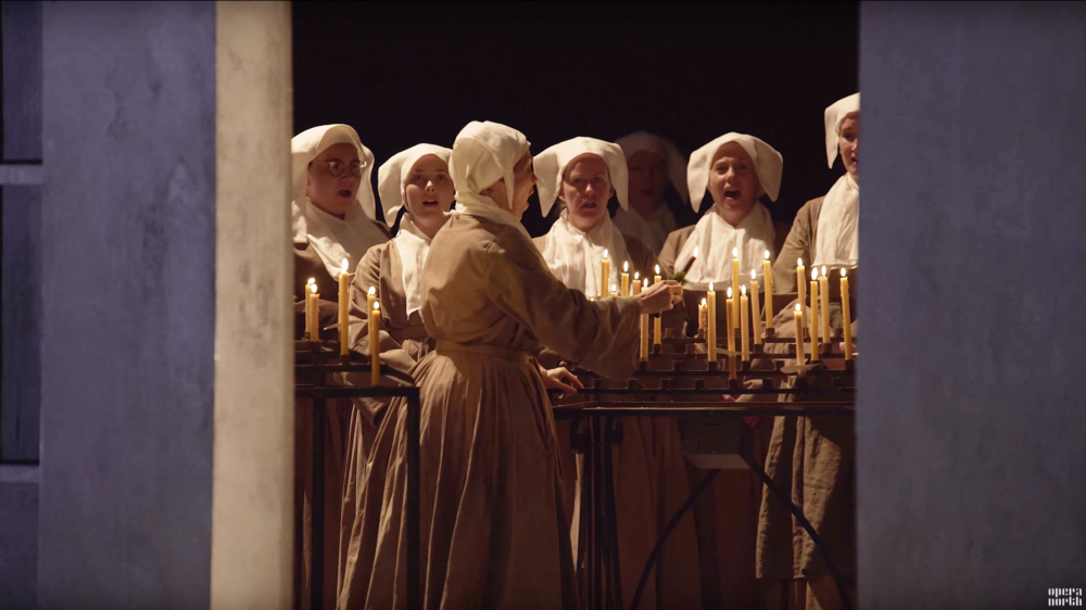 Suor Angelica/Il Tabarro      by Giacomo Puccini   Opera North   Directed by Michael Barker-Caven/David Poutney Conducted by Jac van Steen Designed by Hannah Clark/Johann Engels