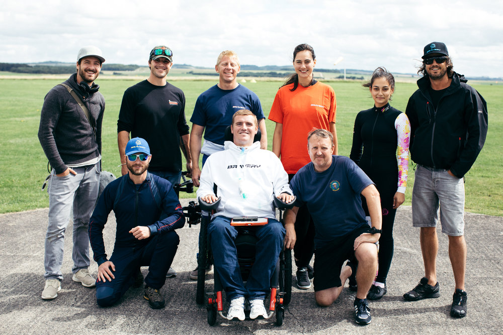 Googsi crew with Bravery Organisation and FSU skydiving Team at Netheravon Airbase filming SKYDIVER (Army Parachute Skydiving Association)