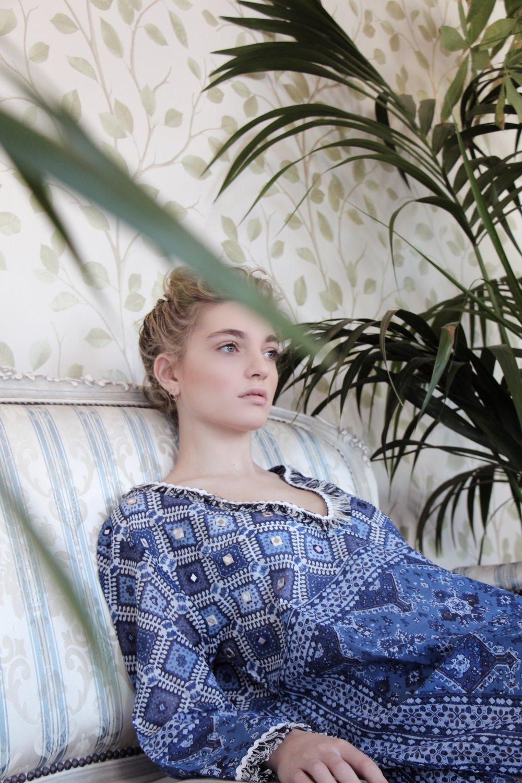 BLUES - photography & creative direction EVANGELINA FYSAmodel KAT MCKENNA