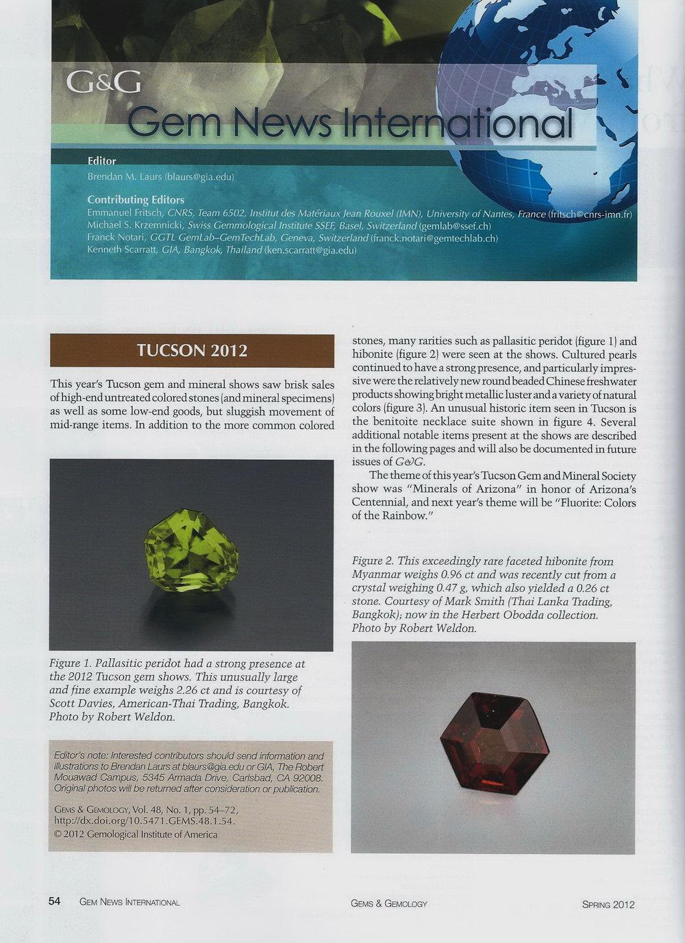 Gems & Gemology - Spring 2012