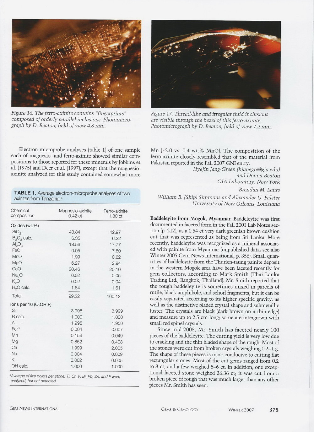 Gems & Gemology - Winter 2007 p.1