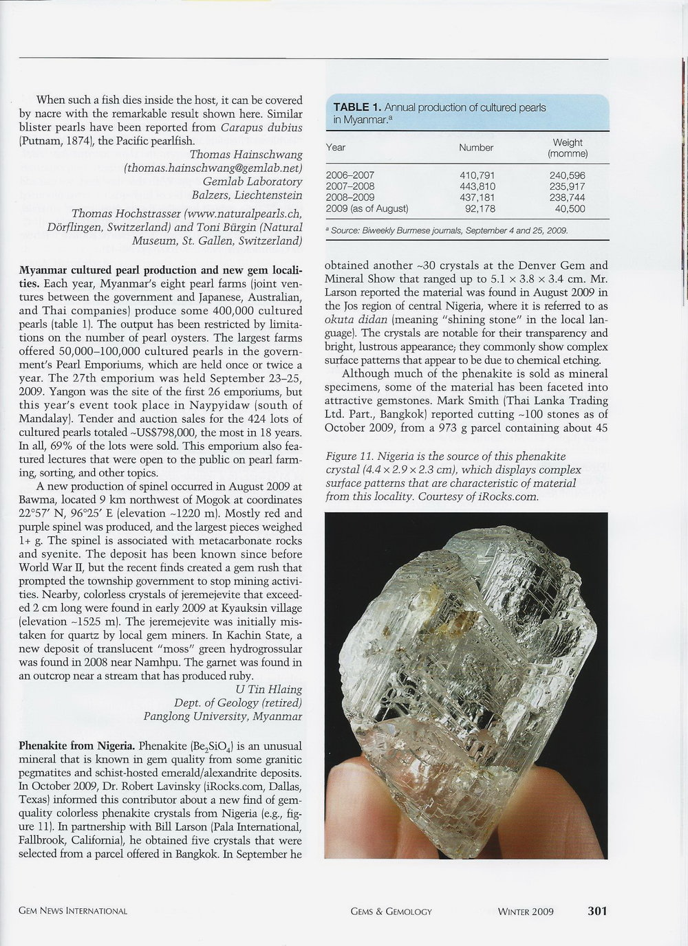 Gems & Gemology - Winter 2009 p.1