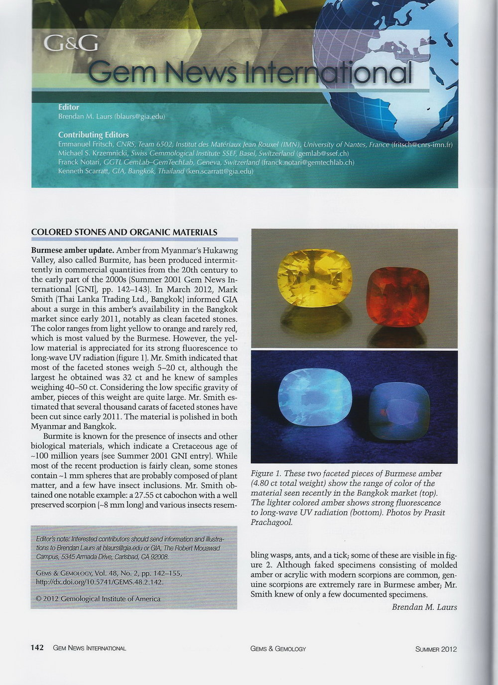 Gems & Gemology - Summer 2012 p.1