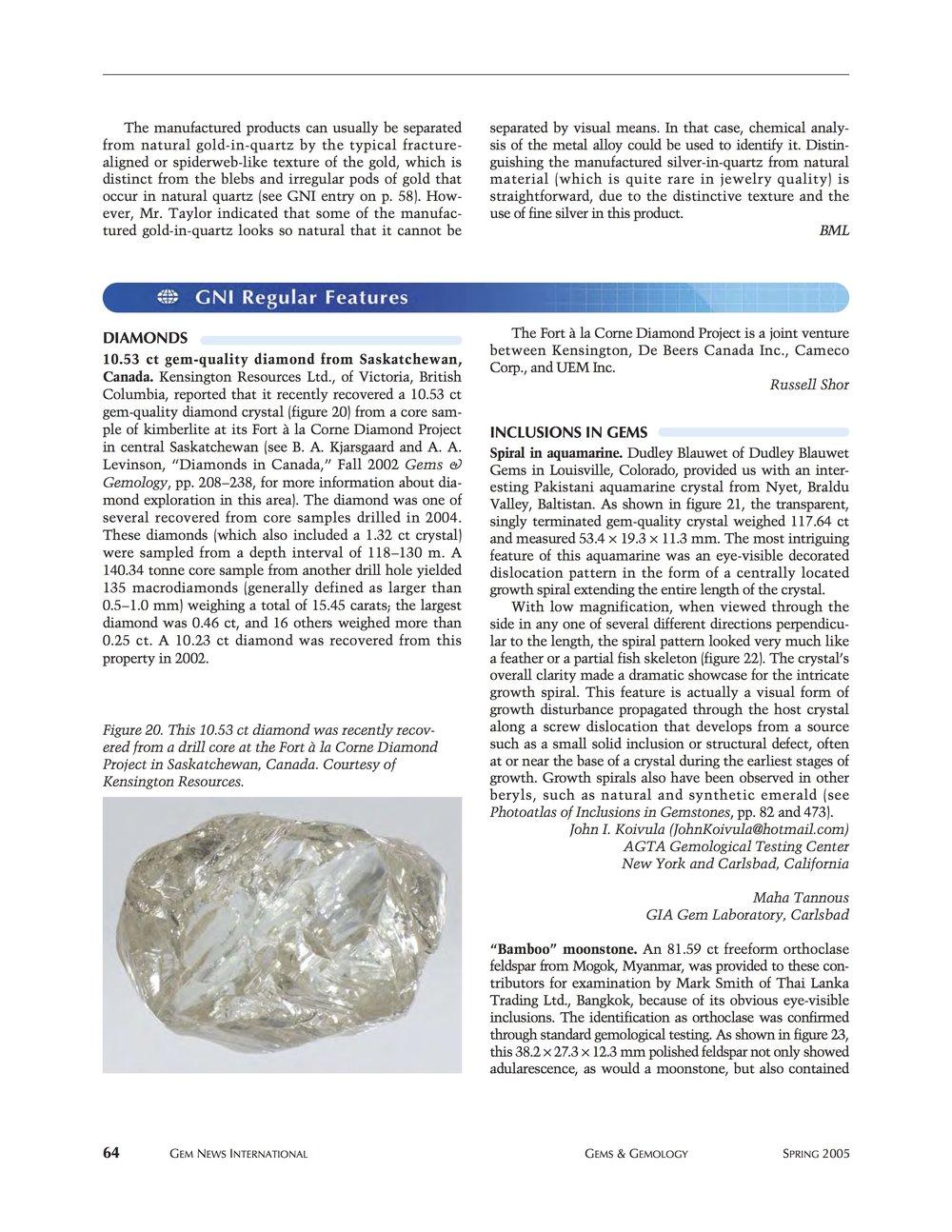 Gems & Gemology - Spring 2015 p.1