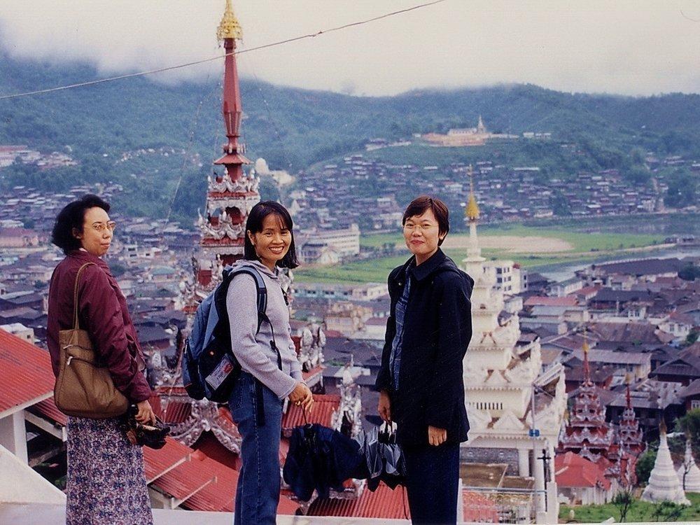 Tim Smith (center) in Mogok, Burma 2003