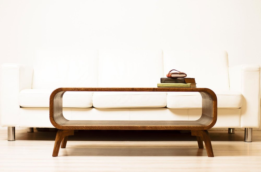 modern solid wood coffee table. modern mid century design made in solid oak