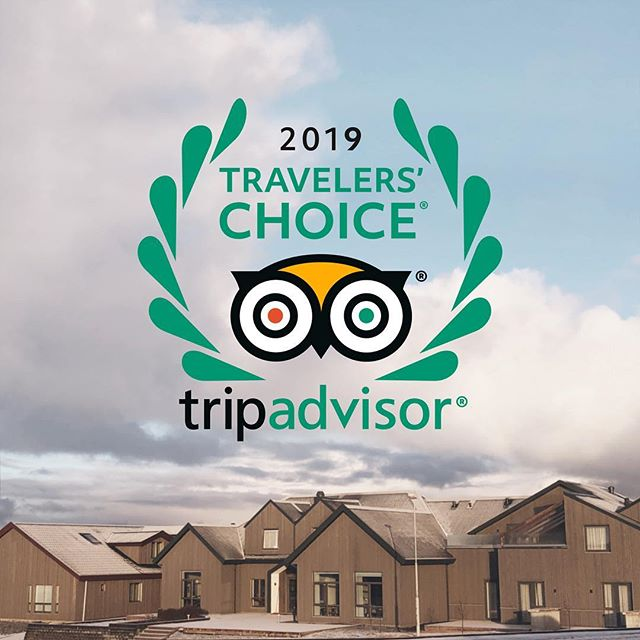 """We are happy and proud to reveal that we were 1 of 10 hotels in Iceland to receive the Travelers' Choice awards for great performance in 2018. A recognition of """"best of the best"""" for service, quality and customer satisfaction. This is an inspiration for us to do even better for our future guests. #hotelbergiceland #travelerschoice #tripadvisor"""