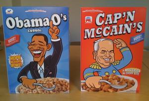 Obama O cereal box