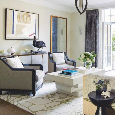 Townhouse Kensington designed by Rebecca Hughes Interiors featuring artwork by Frank Phelan.