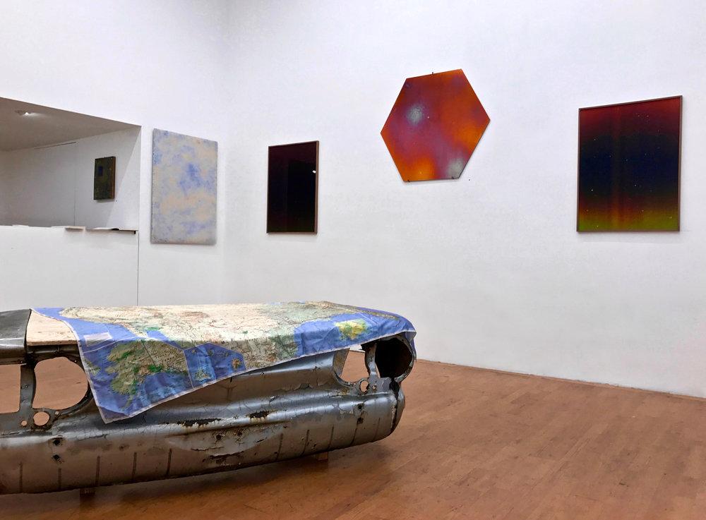 Vue d'exposition avec les oeuvres de Camille Ayme et Caroline Corbasson