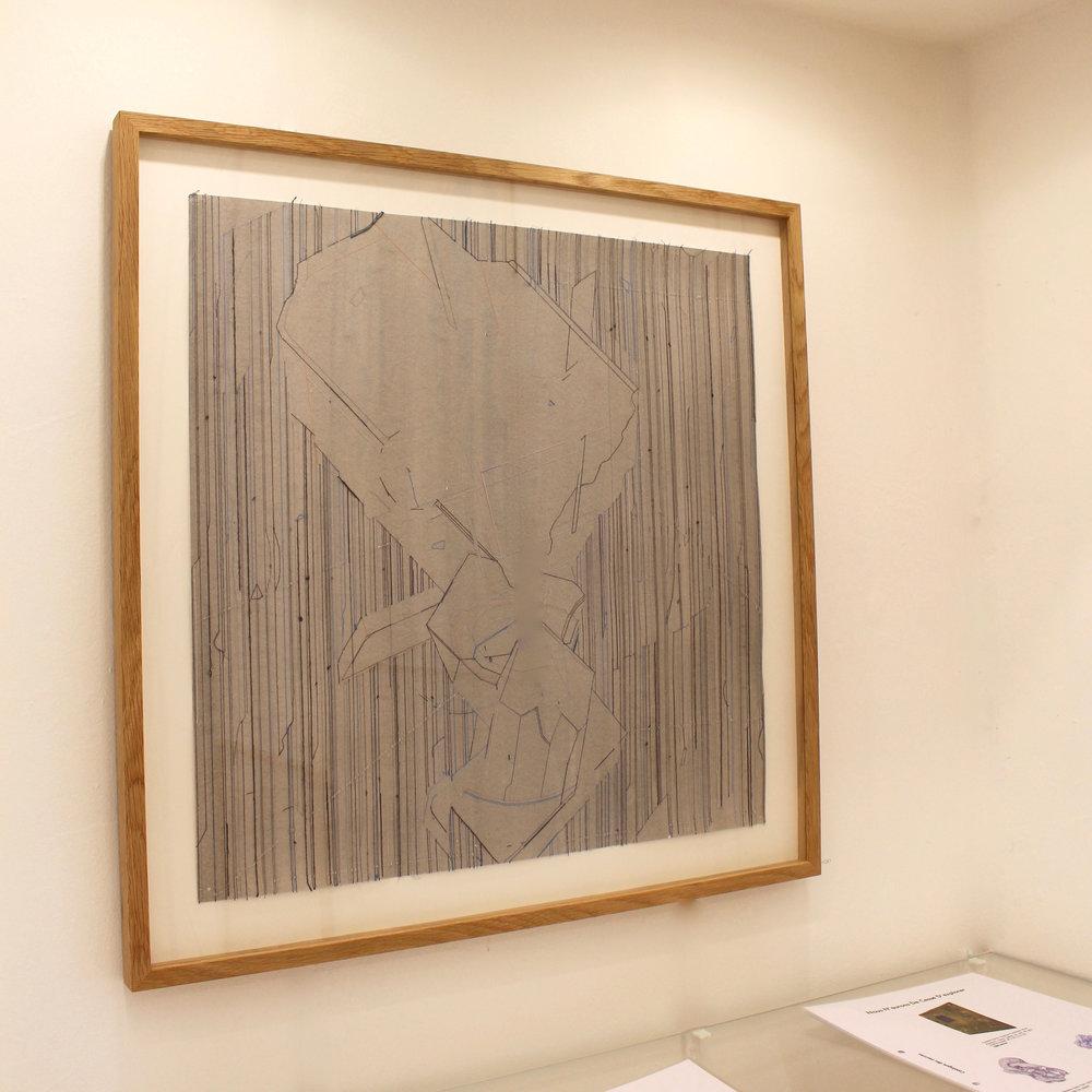 Keita Mori,  Bug Report , 2016. Fil de coton et fil de soie sur papier, 50 cm x 50 cm