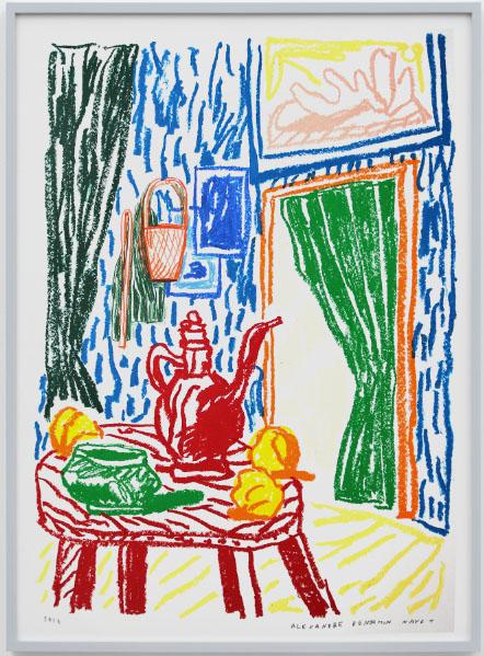 Alexandre Benjamin Navet,  Atelier 1 , 2017. Pastel gras Sennelier sur papier 140g, 42 cm x 59,4 cm