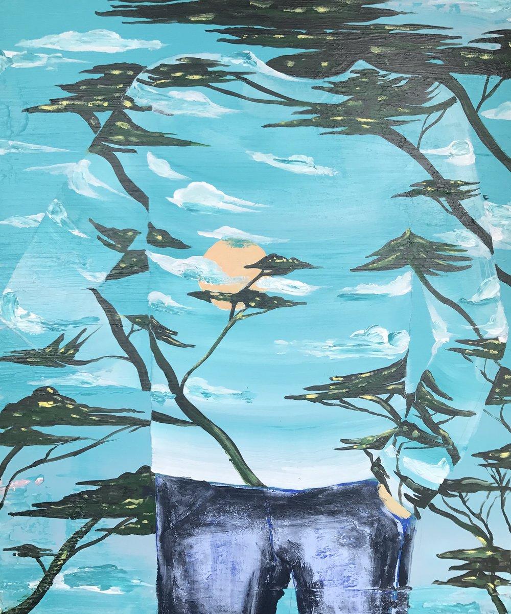 Antoine Carbonne,  Sans-titre , 2017. Huile sur toile, 46 cm x 38 cm