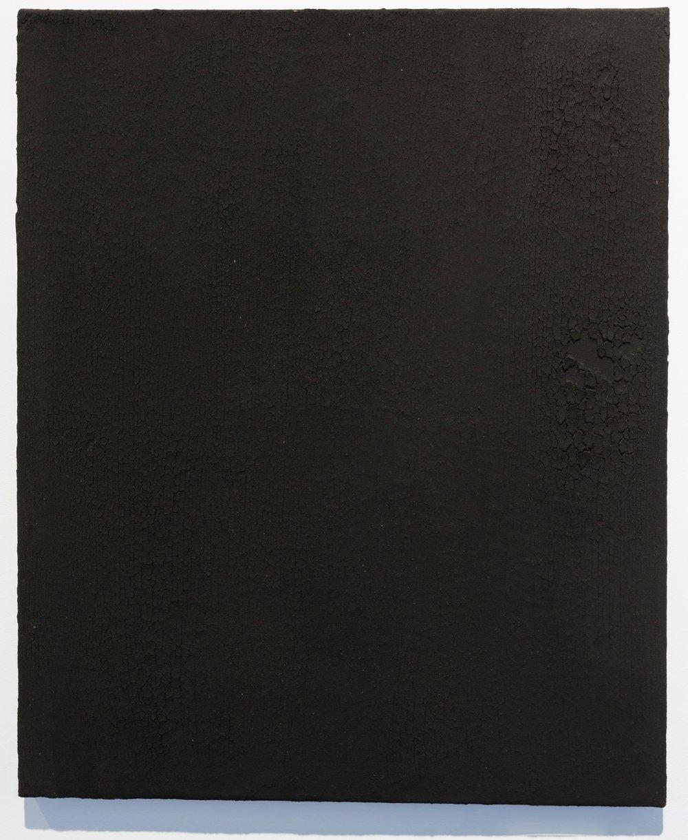 Sabrina Belouaar,  Sans-titre , 2017. Henné sur toile, 61 cm x 50 cm