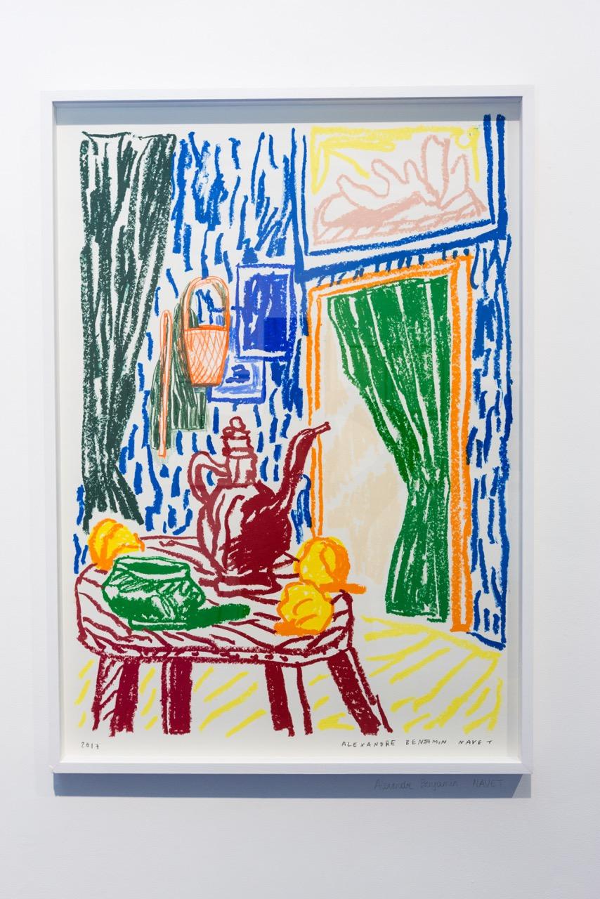 Alexandre Benjamin Navet,  Artist workshop (Matisse) , 2017. Pastel gras Sennelier, 62 cm x 87 cm