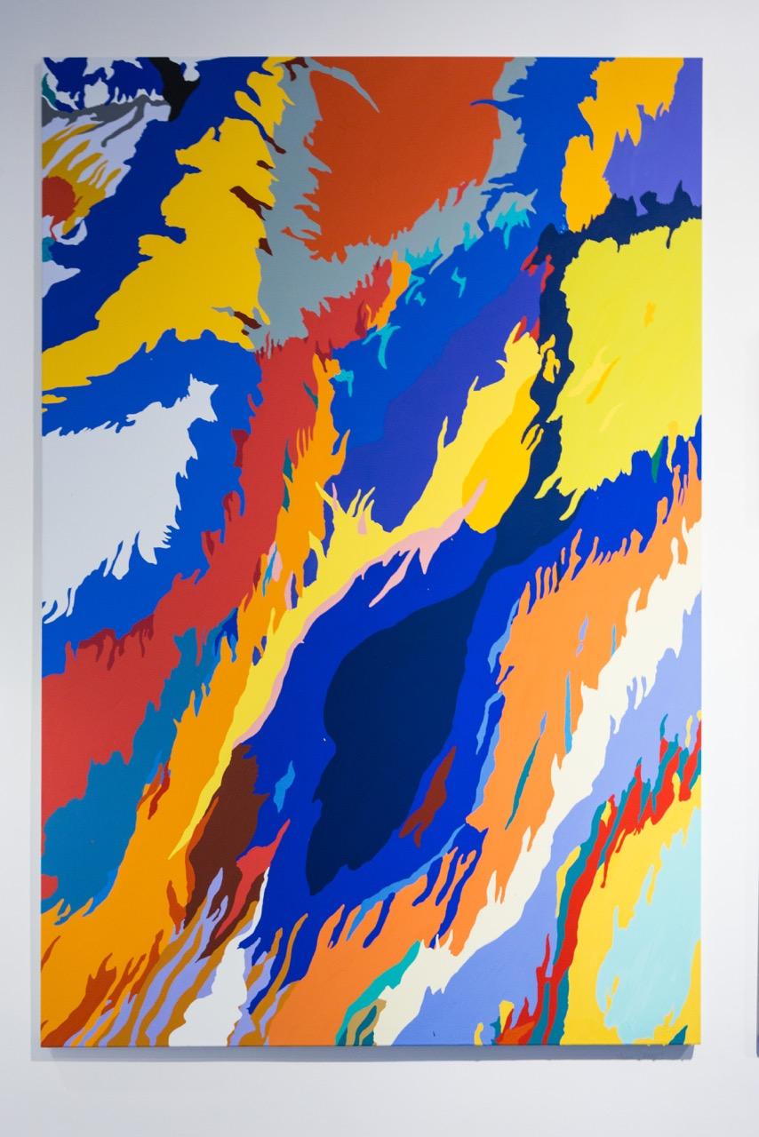 Louis Granet,  Sans-titre , 2017. Acrylique sur toile, 197 cm x 135 cm