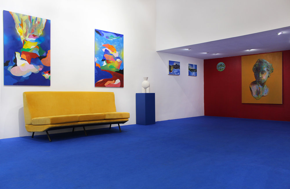 Vue d'exposition la Cage aux Fauves _ FLorent Groc _ Valentina Cameranesi _ Elliott Green _ Coraline de Chiara_ Double V Gallery_ Marseille.jpg