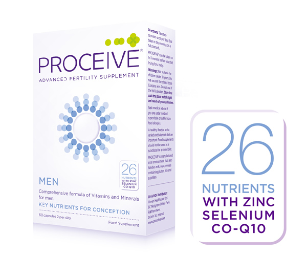 Proceive Fertility Supplements for men with 26 Nutrients including Zinc and Selenium