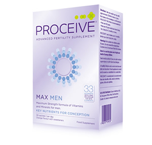 Proceive Fertility Supplements for men with 33 Nutrients (Max Strength) including Zinc, Selenium and Omega-3