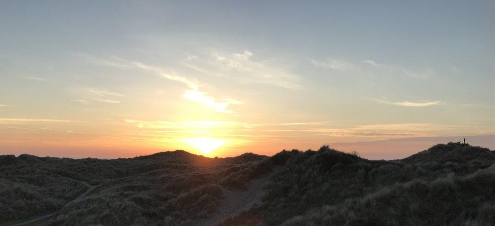 Sunset Ynyslas Dunes