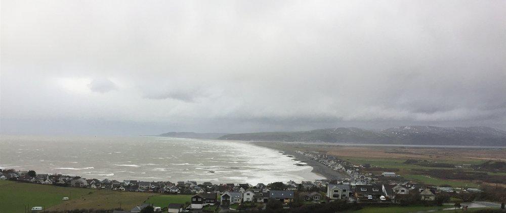 Storm over Borth