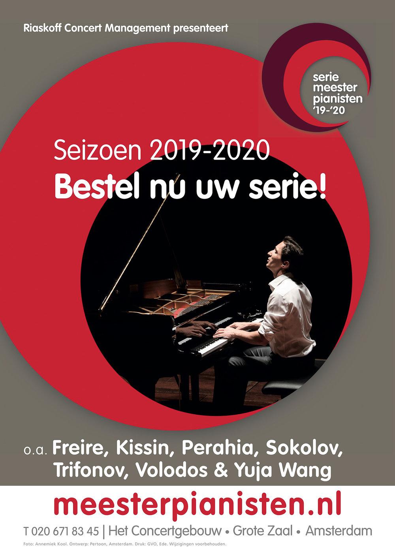 Publicatie poster en brochure Meesterpianisten seizoen 2019/2020