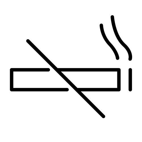 No smoking indoors