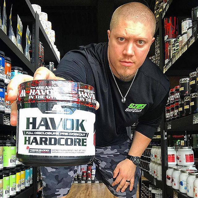"SupZilla Nation! What do you look for in a preworkout? Energy? Focus? Pump? That crazy buzz and tingle feeling?😏 Well HAVOK HARDCORE from American Metabolix packs all that and a bag of chips into every scoop! Loaded with 325mg caffeine, 3.2g beta-alanine, 150mg DMHA, 6g citrulline, 1g agamtine and a list of other fully disclosed ingredients, HAVOK HARDCORE fully covers all your preworkout needs and wants, and will cook the steaks at your next barbecue!😉 Stop in to any of our 10 SupZilla locations today and talk to our knowledgeable owners and staff about adding HAVOK HARDCORE to your pre-workout supplementation routine! ...""Come get a scoop!"" @americanmetabolix @joe_supzilla #beastmode #bodybuilding #comegetascoop #family #fit #fitness #fitfam #fitlife #goals #healthy #Indiana #inspiration #lifestyle #motivation #nutrition #Ohio #strength #SupZilla #SupZillaFit #SupZillaHer #SupZillaNation #SupZillafamily #SupZillagreen #SupZillastrong #SupZillatakeover #SupZilla4life #supplements #training #weightloss #workout"