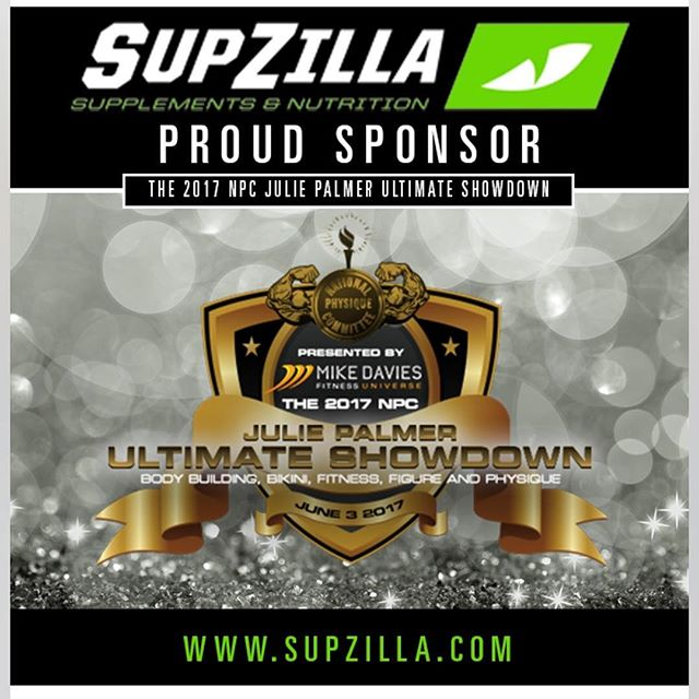 "SupZilla Nation! SupZilla is a proud sponsor of the 2017 NPC Julie Palmer Ultimate Showdown this year! Stop over to the SupZilla booth today and check out all the goodies at the show! ...""Come get a scoop!"" @beefcakedavies @cedric_supzilla #beastmode #bodybuilding #comegetascoop #family #fit #fitness #fitfam #fitlife #goals #healthy #Indiana #inspiration #lifestyle #motivation #nutrition #Ohio #strength #SupZilla #SupZillaFit #SupZillaHer #SupZillaNation #SupZillafamily #SupZillagreen #SupZillastrong #SupZillatakeover #SupZilla4life #supplements #training #weightloss #workout"