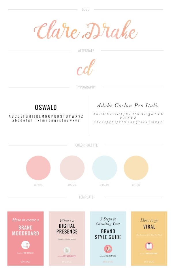 brand style guide for clare drake