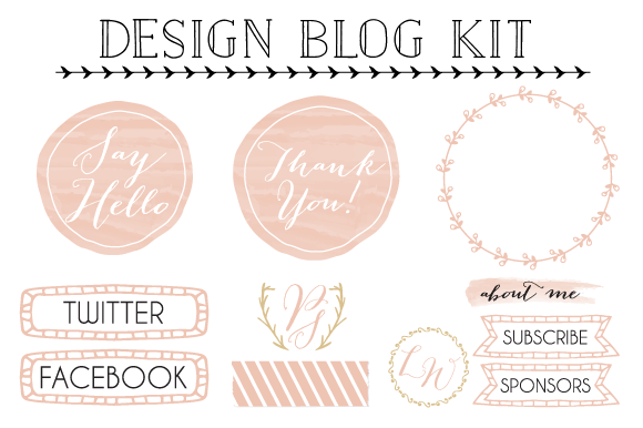 Blog kit design elements from  Pixejoo