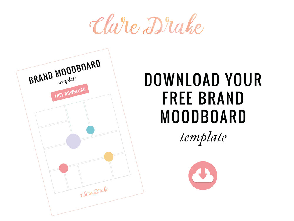how to create a brand moodboard free template clare drake