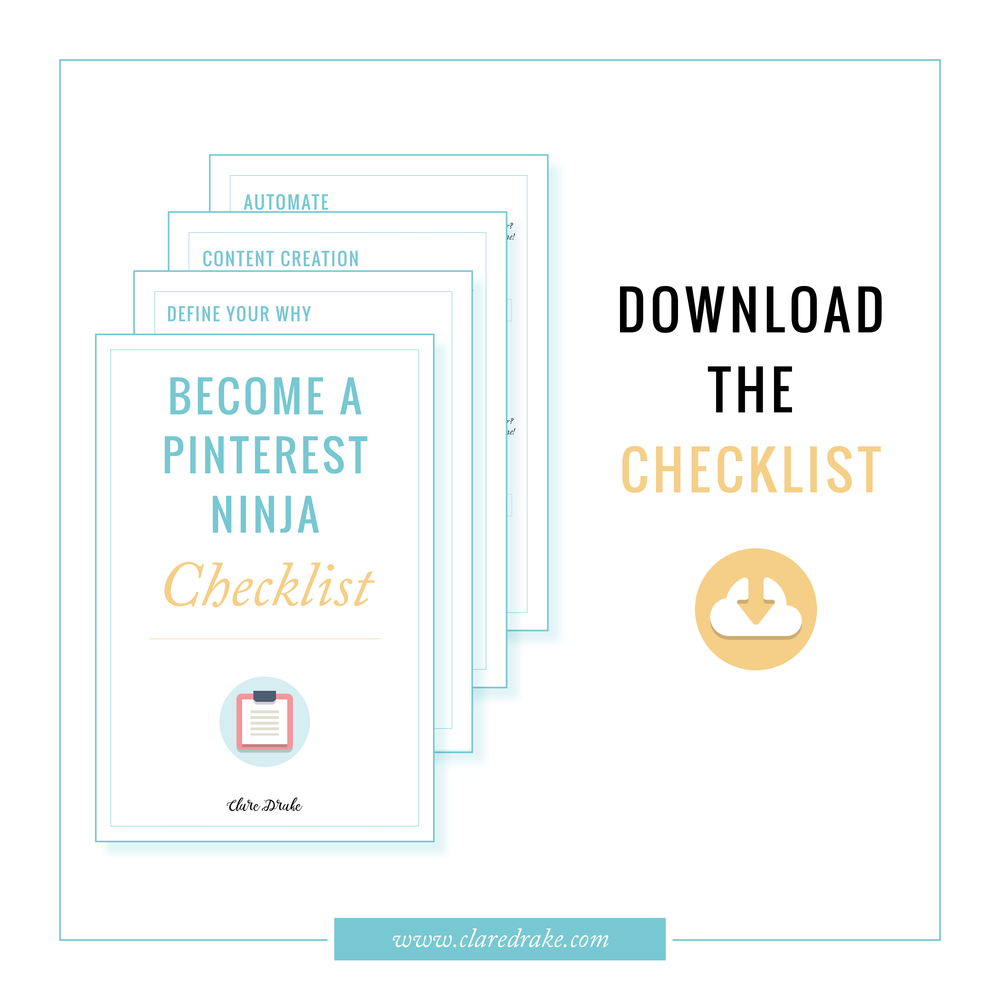 become a pinterest ninja checklist