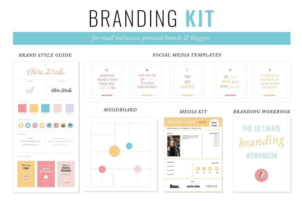 5 steps to creating your brand style guide clare drake for Free brand guidelines template