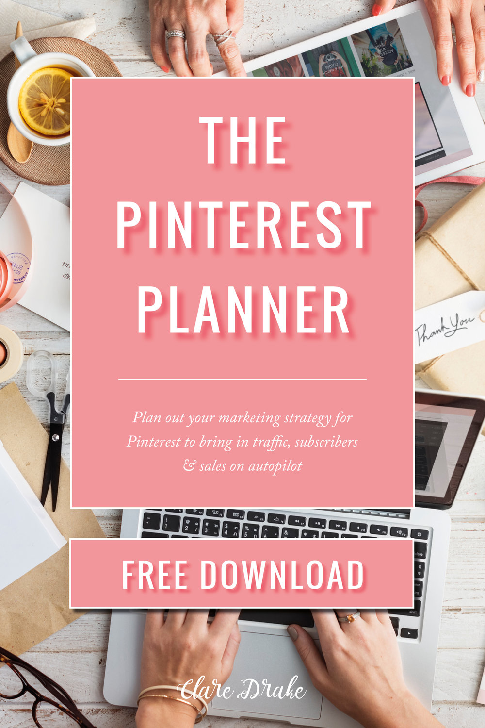 Pinterest Planner [FREE DOWNLOAD] via @claredrake1