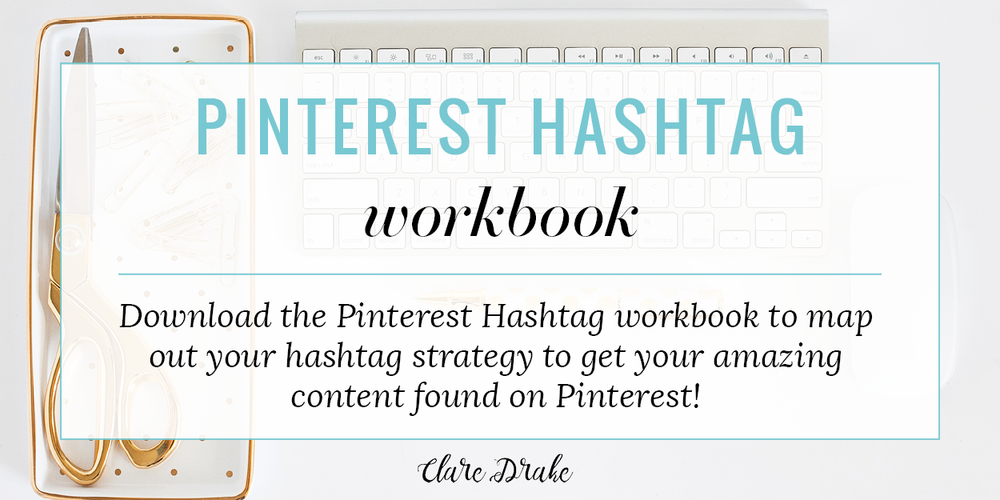 Download the Pinterest Hashtag worksheet here to map out how you can implement the 5 step formula to increase your content's visibility through the use of hashtags.