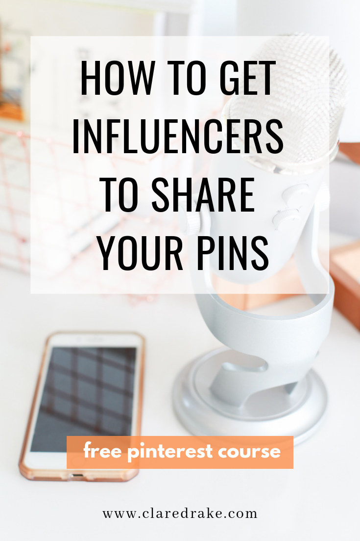 how to get influencers to share your pins