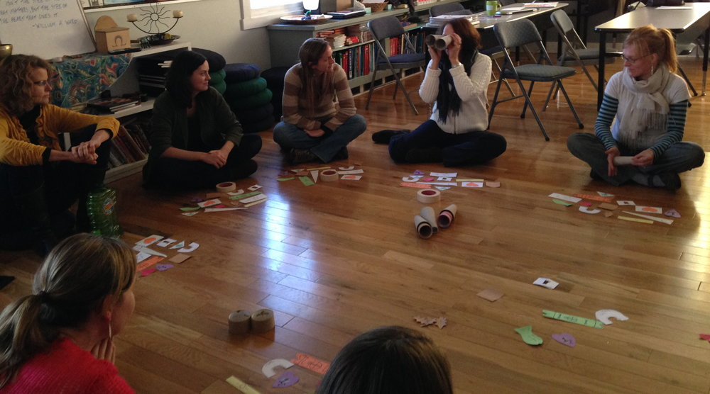Teachers at Rainbow Mountain explore one of our INNOVATION HOUR™ experiences.