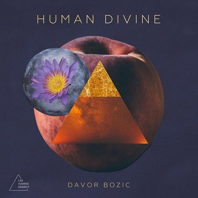 New album cover for the wonderful Davor Bozic. Sumptuous and mystical, just like his music. 🍑✨ Human Divine is available exclusively on the @leeharrisenergy website. . . . . . . #albumcoverart #artcollage #spiritualawakening #humandivine #indiemusic