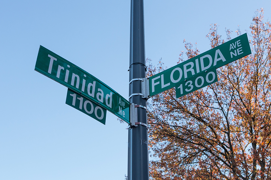 Trinidad Avenue NE and Florida Avenue, NE Street Signs