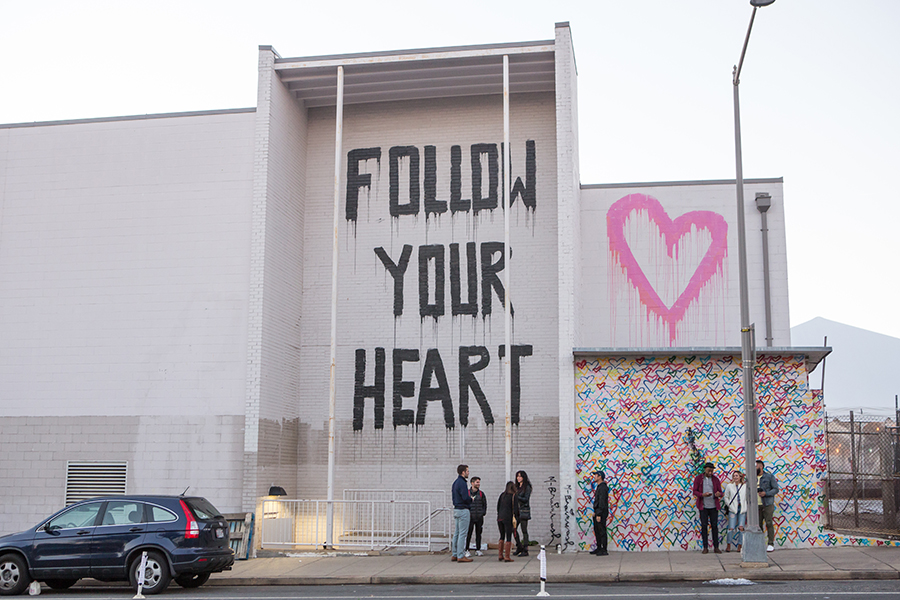 Follow Your Heart Mural at Union Market
