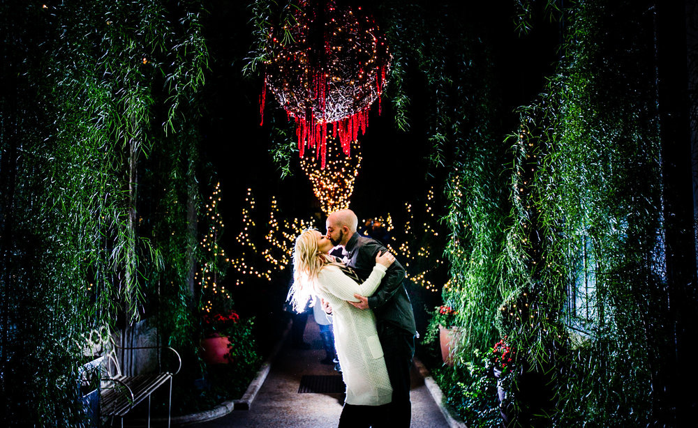 Longwood Garden Christmas Engagement Shoot -016.jpg