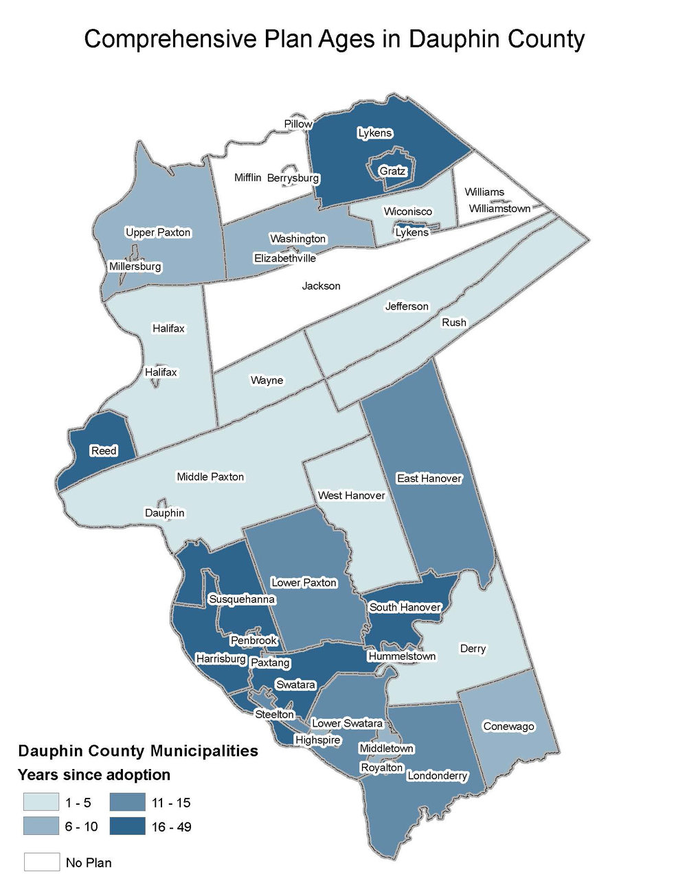 Comp. Plan Ages in Dauphin County   Click for map (PDF)