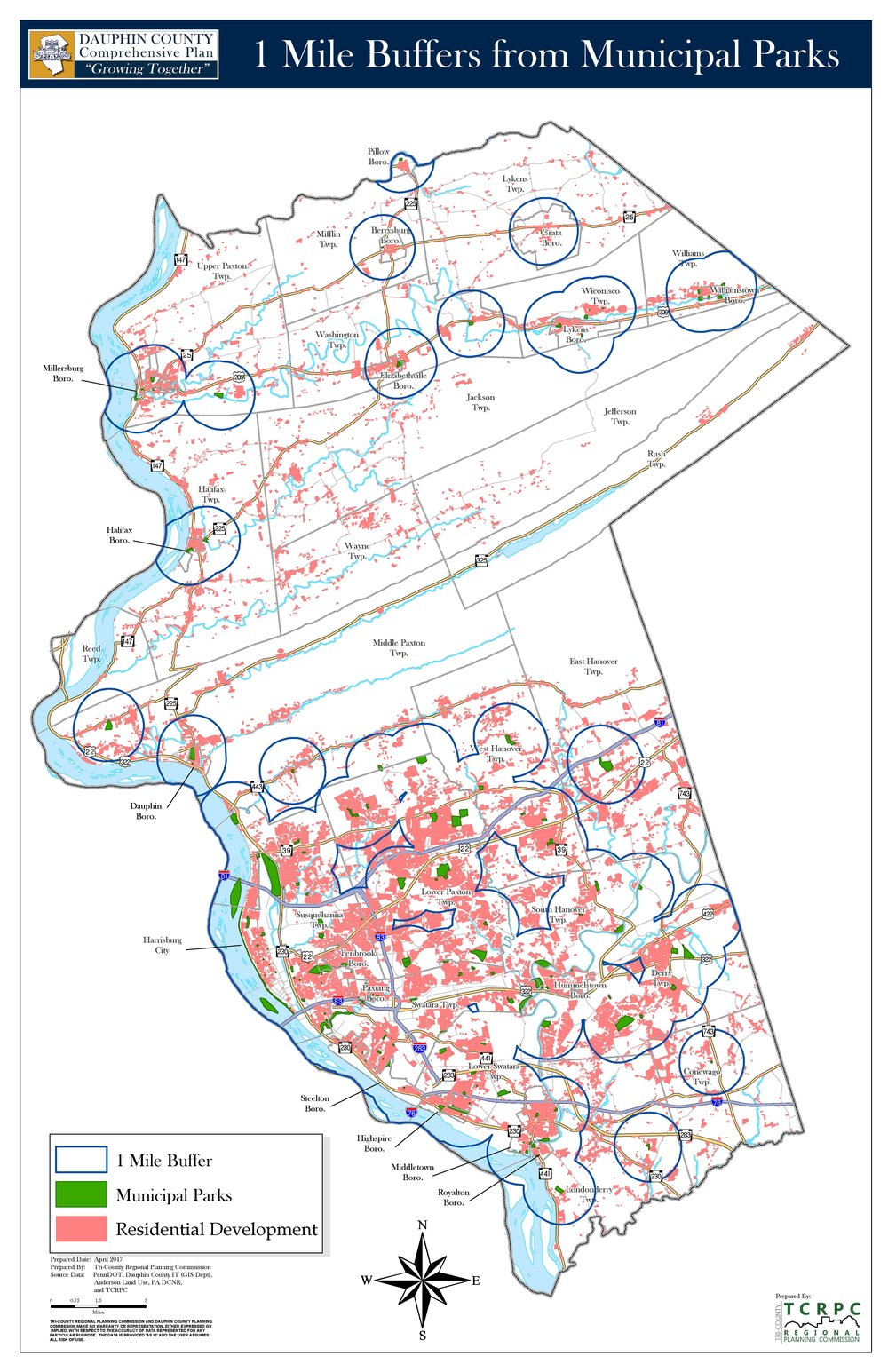 Parks & Residential Development Click for map (PDF)
