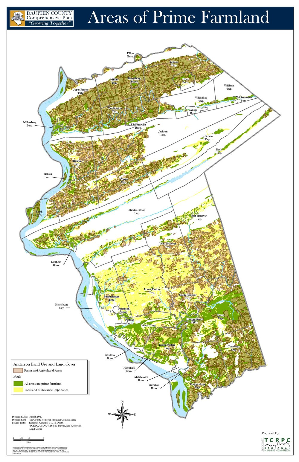 Areas of Prime Farmland   Click for interactive map