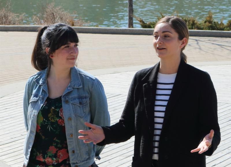 City Councillors Sarina Gersher and Mairin Loewen