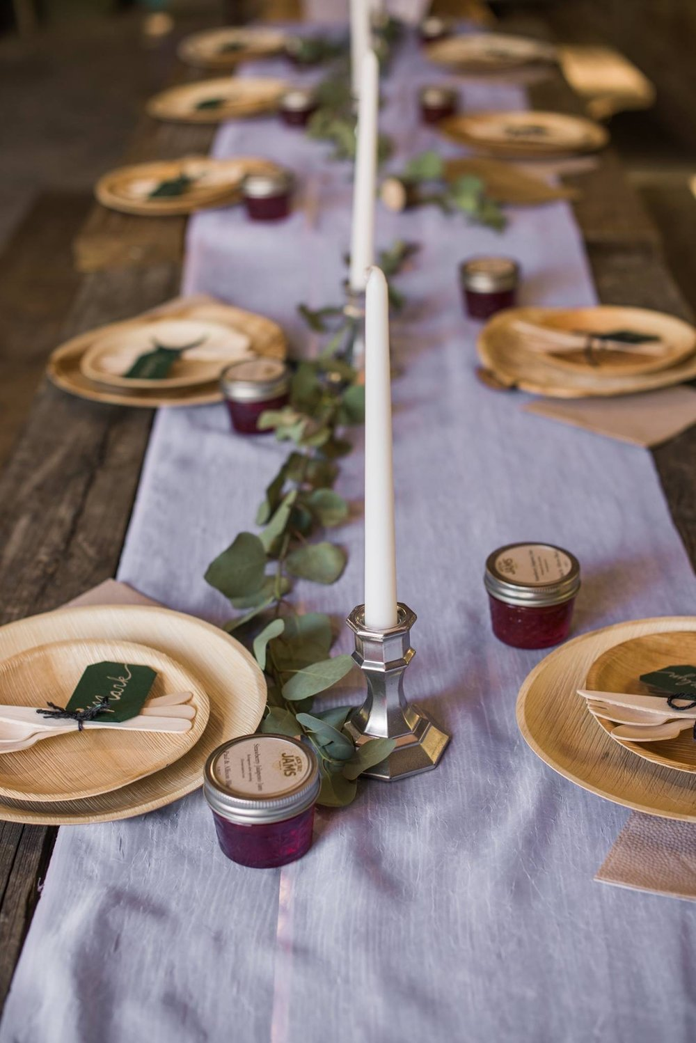 Our jams as wedding favors. Photo by Angie English Photography.