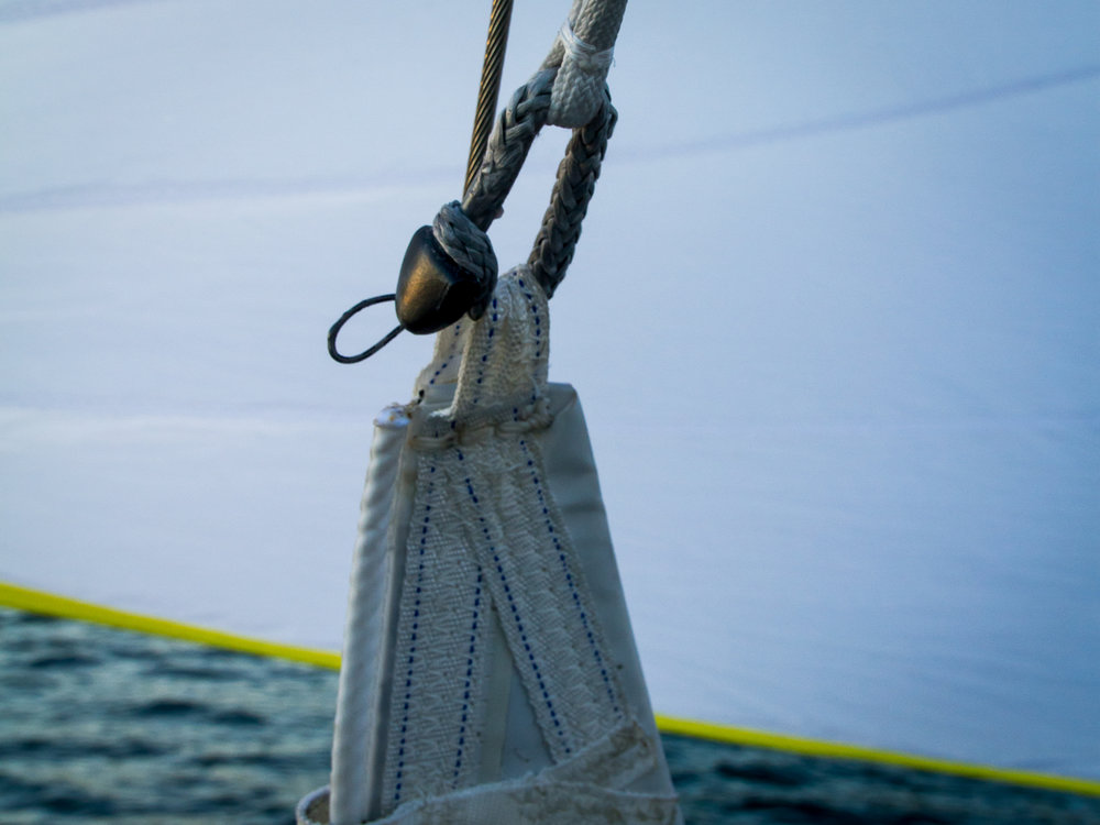 Jib and Spinnaker Halyard Connections
